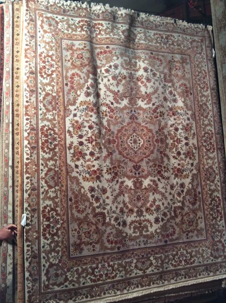 persian design tabriz,silk,wool hand made 8x10