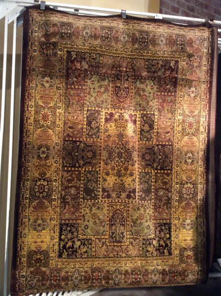 Persian design tea wash 5x8 machine made rug.sold out