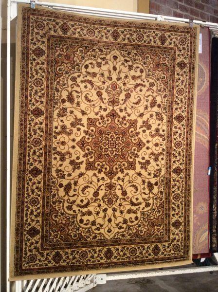 Creme antique look persian design 5x8 machine-made rug
