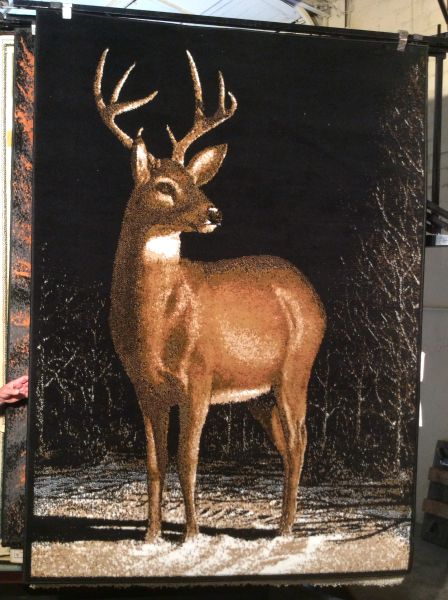 Deer 5x8 machine-made rug