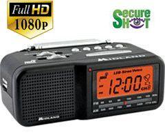 Secure Shot HD 1080P AM/FM Weather Clock DVR