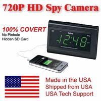 SecureGuard HD 720p USB Charger & Clock Radio Spy Camera Covert Hidden Nanny Camera Spy Gadget
