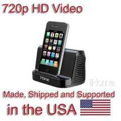 SecureGuard HD 720p iPhone iPod Speaker Spy Camera Covert Hidden Nanny Camera Spy Gadget (New Cost Efficient Line)