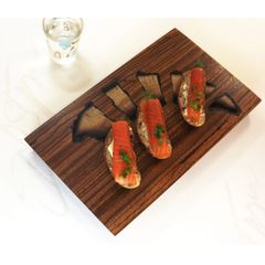 MINI Charcuterie Board with inlaid Forest Fire Growth Rings