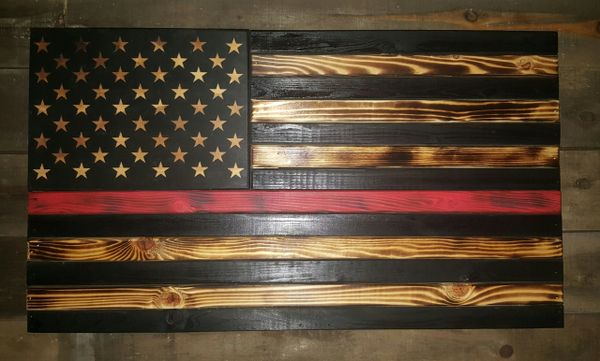 Thin Line Burnt American Flag Concealment Case Standard Size