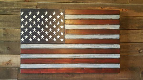 American Flag Concealed Gun Case San Tan Woodworks