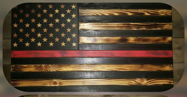 54 Rustic American Flag Gun Case