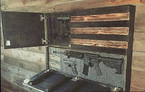 American Flag Gun Case San Tan Woodworks Wooden