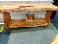 Live Edge Maple Cosole Table Sold