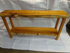 Yew wood Consul Table