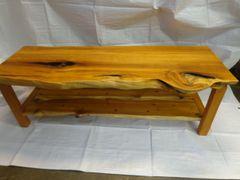 Yew wood Coffee table