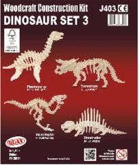Quay Dinosaur Set 3 Woodcraft Construction Kit