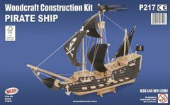 Quay Pirate Ship Woodcraft Construction Kit
