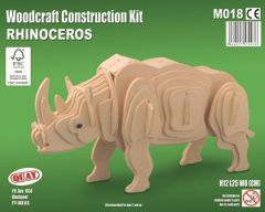 Quay Rhinoceros Woodcraft Construction Kit