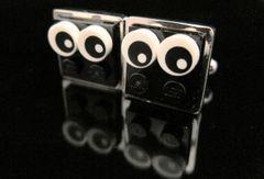 Steampunk Lego® Bat-Eye Critters cufflinks