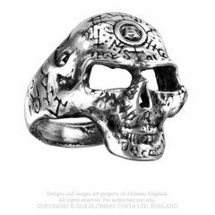 Alchemy Omega Skull Ring