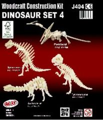 Quay Dinosaur Set 4 Woodcraft Construction Kit