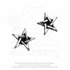 Alchemy Pentagram stud earrings