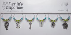A meadow's dream wine glass charm set
