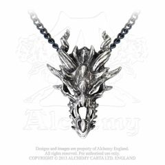Alchemy Dragon Skull necklace