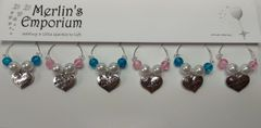 The Top Table wine glass charm set