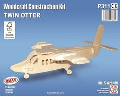 Quay Twin Otter Woodcraft Construction Kit