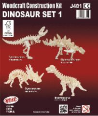 Quay Dinosaur Set 1 Woodcraft Construction Kit