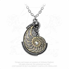 Alchemy Fibonacci's Golden Spiral necklace