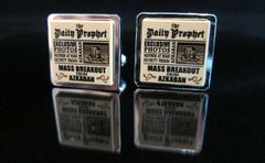Steampunk Lego® Harry Potter 'The Daily Prophet' cufflinks