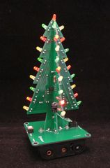 Ready-assembled flashing LED 3D Christmas Tree