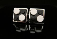 Steampunk Lego® dominoes cufflinks