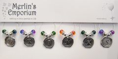 DRINKS cup and wine glass charm set