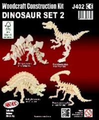 Quay Dinosaur Set 2 Woodcraft Construction Kit