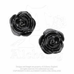 Alchemy The Romance of Black Rose earrings