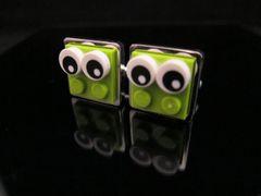 Steampunk Lego® Frog-Eye Critters cufflinks