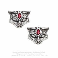 Alchemy Sacred Cat stud earrings