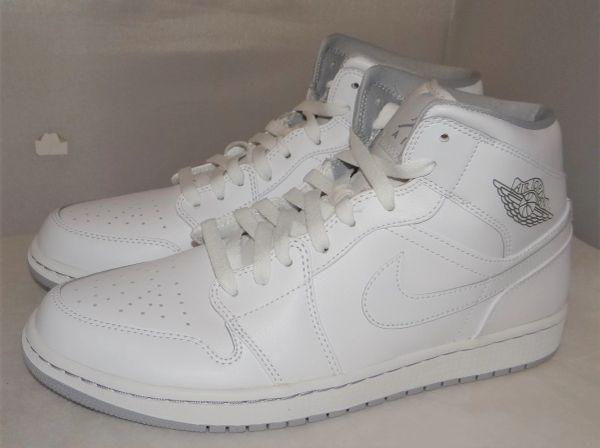 New Air Jordan 1 Size 10 554724 112 #4788 White/Grey