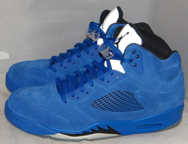 Air Jordan 5 Blue Suede Size 11.5 136027 041 #5151