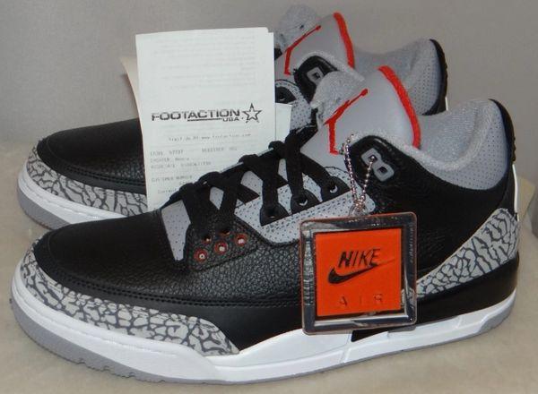 New Air Jordan 3 Black Cement Size 9.5 854262 001 #4725