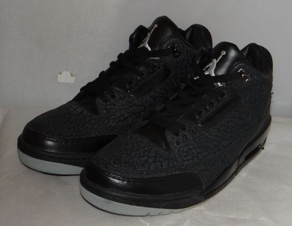 New Air Jordan 3 Black Flip Size 11.5 #4990 315767 001