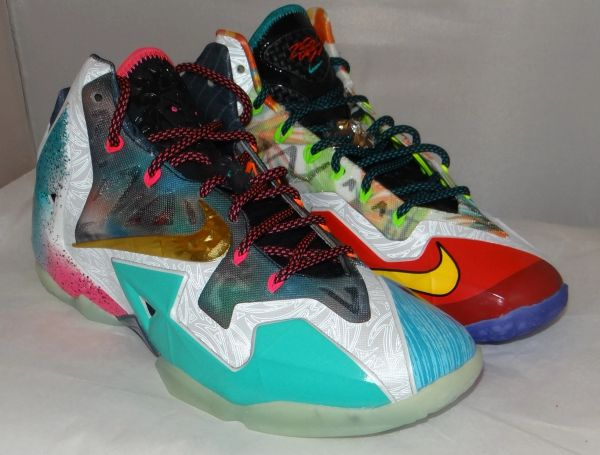 NEW WHAT THE LEBRON SIZE 11.5 650884 400 #4736