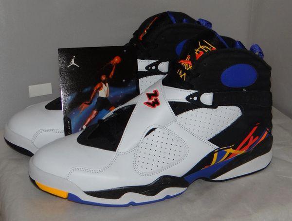 New Air Jordan 8 Three Peat Size 11.5 305381 142 #5036