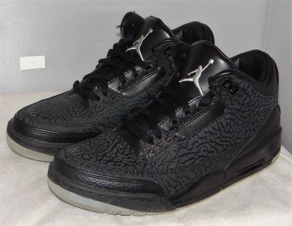 Air Jordan 3 Black Flip Size 8 315767 001 #5048