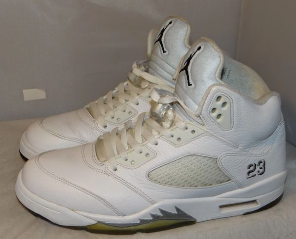 Air Jordan 5 White Metallic Size 11 136027 130 #5144