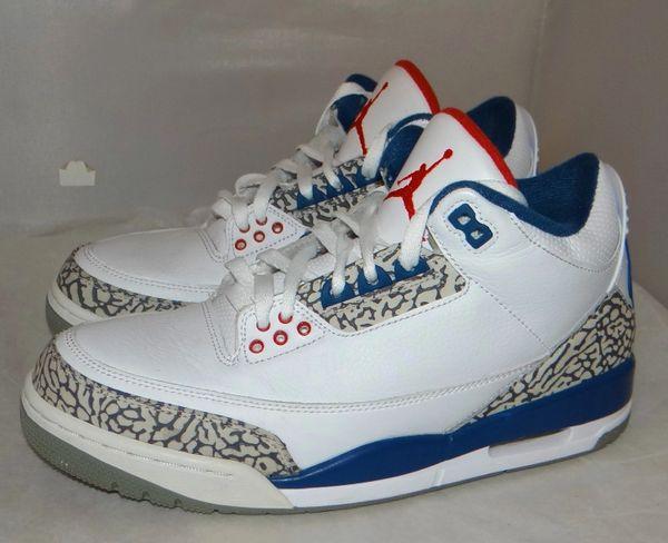 Air Jordan 3 True Blue Size 8.5 #4831 854262 106