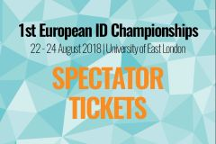 2-Day - Spectator Tickets - 2018 European ID Championships