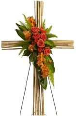 Bamboo Cross Standing Spray