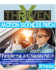 New THRIVENX Motion Sickness Patches (30 pack)