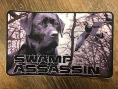 Swamp Assassin Black Lab Flooded Timber (GREY) Decal 3 inch x 5 Inch