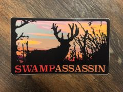 Swamp Assassin Whitetail Timber Decal (Sunset)
